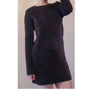 Zara sparkle knit limited edition shift dress S